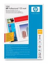 HP fotópapír, tintasugaras, A4, 120 g, kétoldalas, matt, Professzionális, Q6593A
