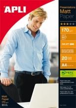 APLI fotópapír, tintasugaras, A4, 170 g, kétoldalas, matt, Presentations