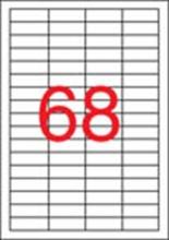 APLI etikett, A4, 48,5x16,9 mm, 4 pályás, univerzális