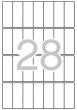APLI etikett, A5, 20x50 mm, kerekített sarkú, 495 db