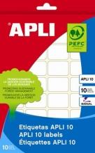 APLI etikett, 12x18 mm, kézzel írható