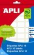 APLI etikett, 25x40 mm, kézzel írható
