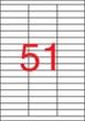 APLI etikett, A4, 70x16,9 mm, 3 pályás, univerzális