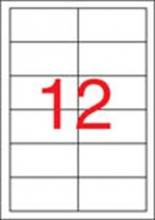APLI etikett, A4, 97x42,4 mm, 2 pályás, univerzális