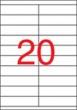 APLI etikett, A4, 105x29 mm, 2 pályás
