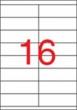 APLI etikett, A4, 105x35 mm, 2 pályás, univerzális