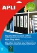 APLI etikett, A4, 190x61 mm, 1 pályás, univerzális