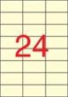 APLI etikett, A4, 70x37 mm, 3 pályás, krém