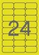 APLI etikett, A4, 64x33,9 mm, 3 pályás, fluo sárga