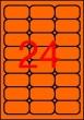 APLI etikett, A4, 64x33,9 mm, 3 pályás, fluo narancs