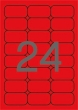 APLI etikett, A4, 64x33,9 mm, 3 pályás, fluo piros