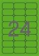 APLI etikett, A4, 64x33,9 mm, 3 pályás, fluo zöld