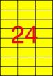 APLI etikett, A4, 70x37 mm, 3 pályás, sárga