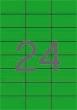 APLI etikett, A4, 70x37 mm, 3 pályás, zöld