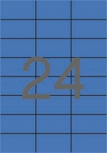 APLI etikett, A4, 70x37 mm, 3 pályás, kék