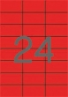APLI etikett, A4, 70x37 mm, 3 pályás, piros