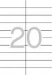APLI etikett, A5, 21x74,62 mm, 2 pályás, 340 db
