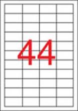APLI etikett, A4, 48,5x25,4 mm, 4 pályás, lézernyomtatóhoz