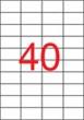 APLI etikett, A4, 52,5x29,7 mm, 4 pályás, lézernyomtatóhoz