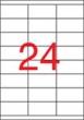 APLI etikett, A4, 70x35 mm, 3 pályás, lézernyomtatóhoz