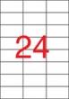 APLI etikett, A4, 70x37 mm, 3 pályás, lézernyomtatóhoz