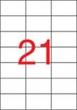 APLI etikett, A4, 70x42,4 mm, 3 pályás, lézernyomtatóhoz