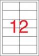 APLI etikett, A4, 97x42,4 mm, 2 pályás, lézernyomtatóhoz