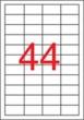 APLI etikett, A4, 48,5x25,4 mm, 4 pályás, átlátszó, vízálló lézer