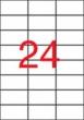 APLI etikett, A4, 70x37 mm, 3 pályás, átlátszó, tintasugaras