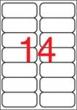 APLI etikett, A4, 99,1x38,1 mm, 2 pályás, átlátszó, tintasugaras