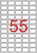 APLI etikett, A4, 36,8x23,8 mm, 5 pályás, eltávolítható, kerekített sarkú