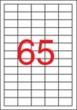 APLI etikett, A4, 38x21,2 mm, 5 pályás, eltávolítható