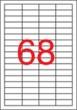 APLI etikett, A4, 48,5x16,9 mm, 5 pályás, eltávolítható