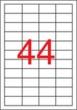 APLI etikett, A4, 48,5x25,4 mm, 4 pályás, eltávolítható