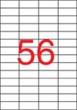 APLI etikett, A4, 52,5x21,2 mm, 4 pályás, eltávolítható