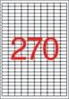 APLI etikett, A4, 17,8x10 mm, 10 pályás, eltávolítható, kerekített sarkú