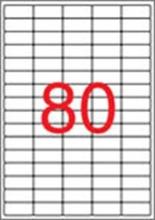 APLI etikett, A4, 35,6x16,9 mm, 5 pályás, eltávolítható, kerekített sarkú