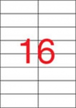 APLI etikett, A4, 105x37 mm, 2 pályás, SuperSticky