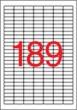 APLI etikett, A4, 25,4x10 mm, 7 pályás, fedő