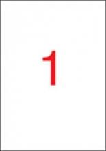 APLI etikett, A4, 210x297 mm, fedő