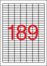 APLI etikett, A4, 25,4x10 mm, 7 pályás, eltávolítható, kerekített sarkú