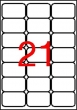 APLI etikett, A4, 63,5x38,1 mm, 3 pályás, kerekített sarkú