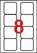 APLI etikett, A4, 70x71,9 mm, 2 pályás, kerekített sarkú