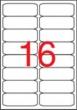 APLI etikett, A4, 99,1x34,2 mm, 2 pályás, kerekített sarkú