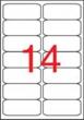 APLI etikett, A4, 99,1x38,1 mm, 2 pályás, kerekített sarkú