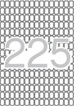 APLI etikett, A5, 8x12 mm, kerekített sarkú, 3825 db