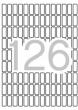 APLI etikett, A5, 8x20 mm, kerekített sarkú, 2142 db