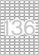 APLI etikett, A5, 10x16 mm, kerekített sarkú, 2040 db