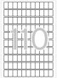 APLI etikett, A5, 12x18 mm, kerekített sarkú, 1870 db