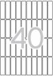APLI etikett, A5, 13x50 mm, kerekített sarkú, 680 db